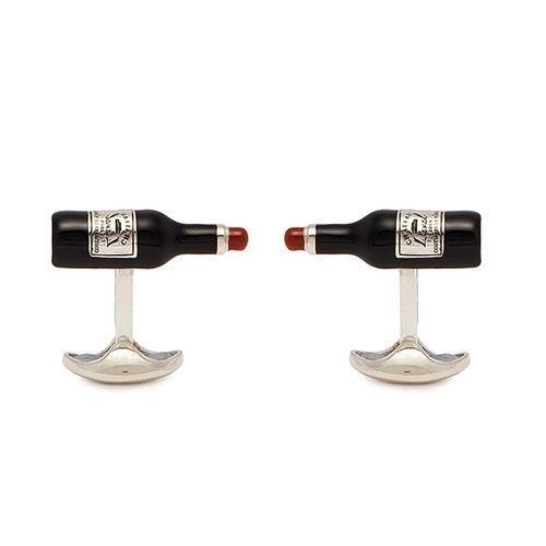 Запонки Deakin&Francis Silver Бутылочка вина, фото