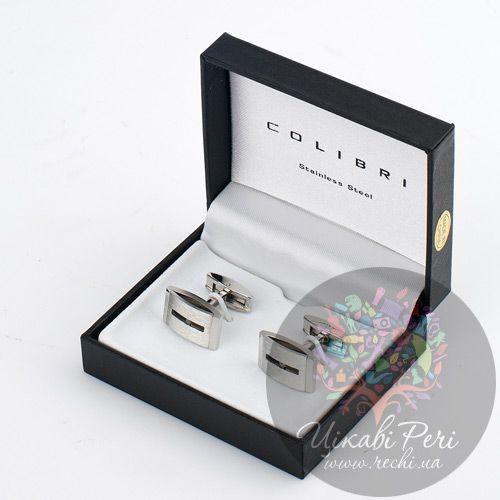 Запонки Colibri Nero с черным бриллиантом, фото