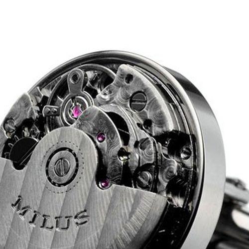 Запонки с турбийоном Milus Steel черного цвета, фото