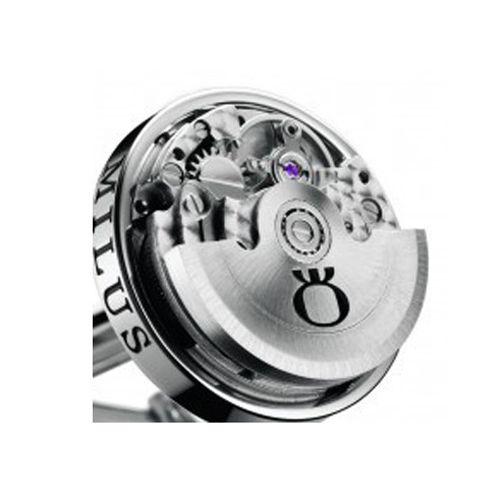 Механические запонки Milus Logo Esmaltado из полированной стали, фото