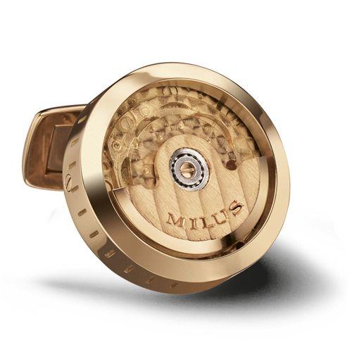 Механические запонки Milus Joaillerie из розового золота, фото