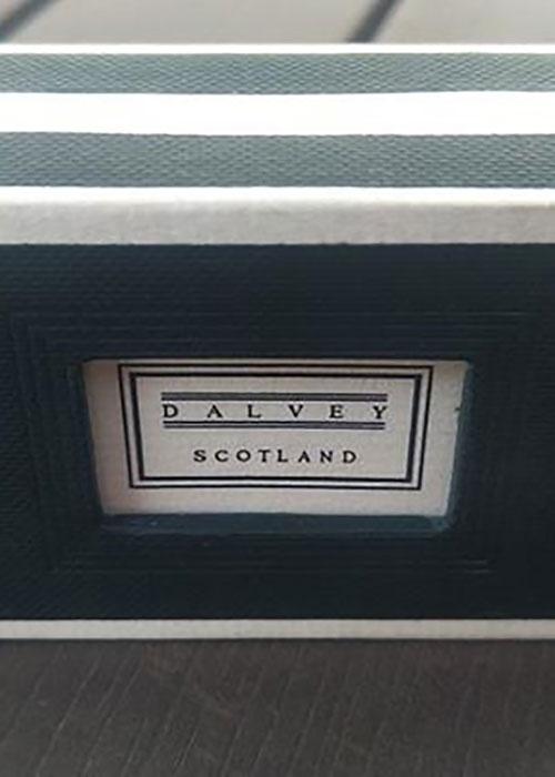 Запонки Dalvey Eclipse с черным ониксом, фото