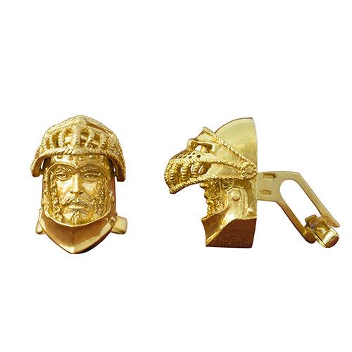 Позолоченые запонки Silver Joy Французский рыцарь, фото