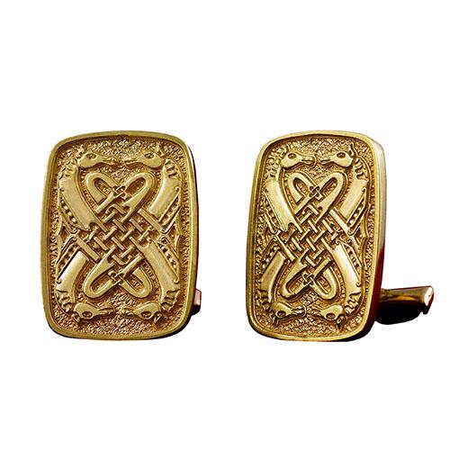 Позолоченые запонки Silver Joy Кельтские мотивы, фото