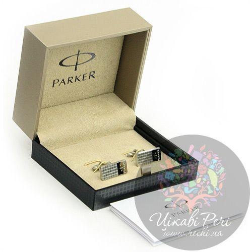 Запонки Parker прямоугольные вертикальные, фото