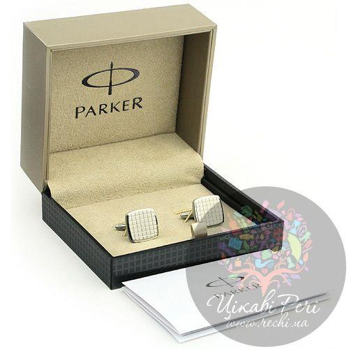 Запонки Parker квадратные, фото