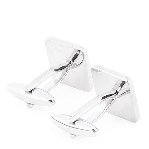 Запонки Jewels квадратной формы с черной эмалью, фото