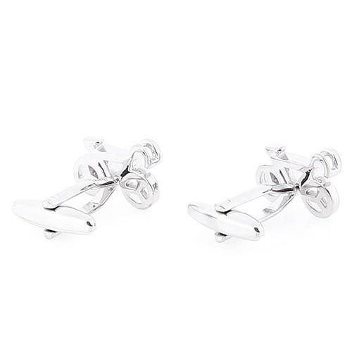 Запонки Jewels серебряного цвета в виде велосипеда, фото