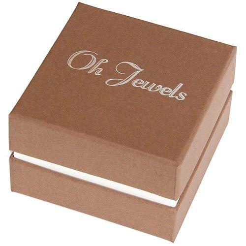 Запонки Jewels цилиндричной формы с белым кристаллом, фото