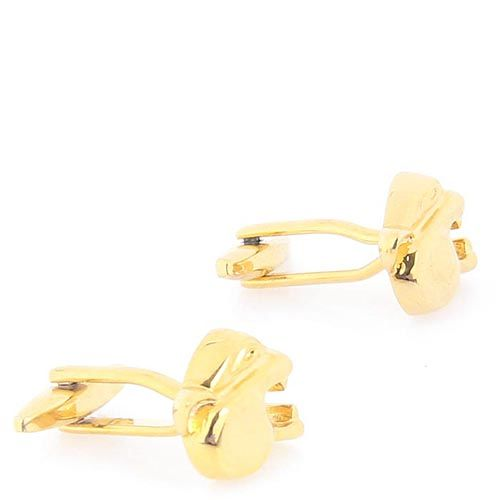 Запонки Jewels золотого цвета в форме головы ягуара, фото