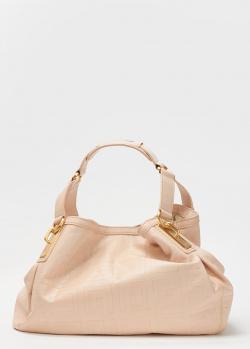 Пудровая сумка Givenchy из кожи с тиснением, фото