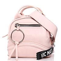 Нюдовая сумка Vic Matie с крупным брелком, фото