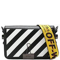 Черная сумка Off-White в полоску, фото