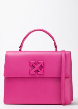 Розовая сумка Off-White трапециевидной формы, фото