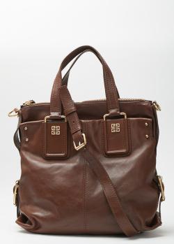 Коричневая сумка Givenchy с фирменным декором, фото