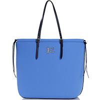 Голубая сумка-шоппер Ermanno Ermanno Scervino Evelin с регулируемыми ручками, фото