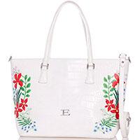 Белая сумка Ermanno Ermanno Scervino Elsida с цветочным принтом, фото
