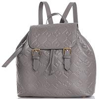 Серый рюкзак Ermanno Ermanno Scervino Federica с тиснением, фото
