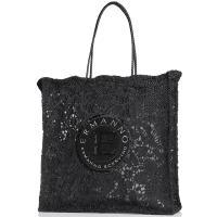 Сумка-шоппер Ermanno Ermanno Scervino Fatin черного цвета, фото