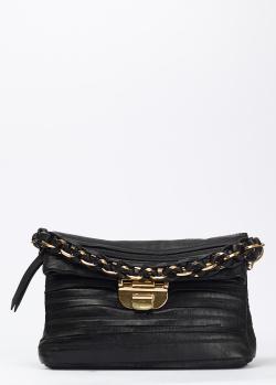 Черная сумка Nina Ricci с объемной цепочкой, фото
