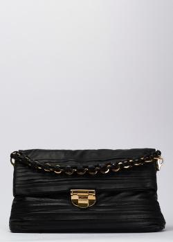 Черная сумка Nina Ricci на ручке-цепочке, фото