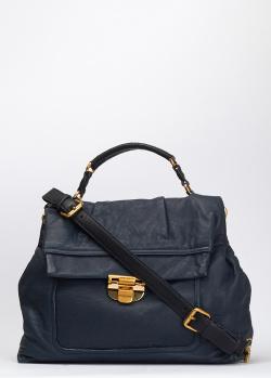 Синяя сумка Nina Ricci из мягкой кожи, фото