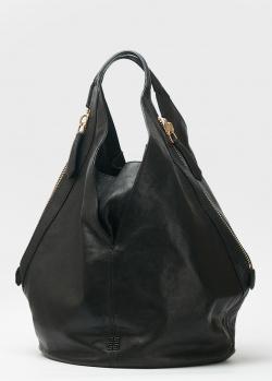 Сумка-хобо Givenchy из кожи черного цвета, фото