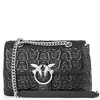 Черная сумка Pinko с тиснением, фото