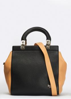 Черная сумка Givenchy HDG с бежевыми вставками, фото