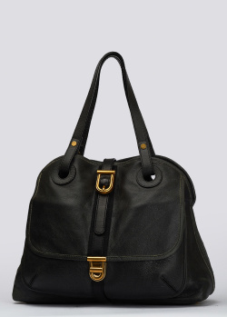 Черная сумка Nina Ricci с золотистой фурнитурой, фото
