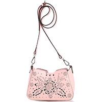 Розовая сумка Cromia Jungle с декоративной перфорацией, фото