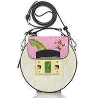 Желтая сумка Cromia It Farai с ярким принтом, фото