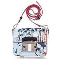 Маленькая сумка Cromia It Giambya с голубым принтом, фото