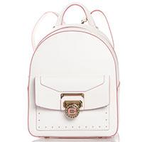 5804d06c225c в шоуруме · Cromia. Рюкзак Cromia Nubia белого цвета с розовой окантовкой