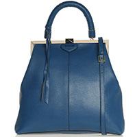 Вертикальная сумка Cromia Daisy из кожи синего цвета, фото