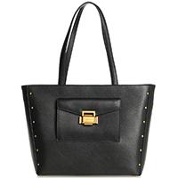 Черная сумка-тоут Cromia Ginger в форме трапеции, фото