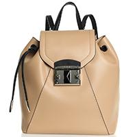 Бежевый рюкзак Cromia IT Puffy на затяжках, фото