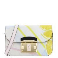 Розовая сумка Cromia с принтом в виде апельсина, фото
