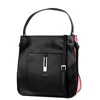 Черная сумка Cromia Anise с коричневыми вставками, фото