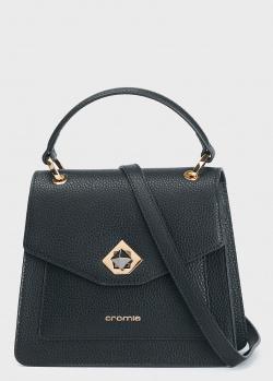 Черная сумка Cromia Mina из зернистой кожи, фото