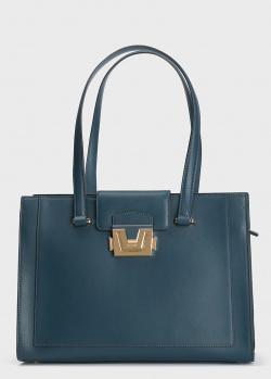 Темно-синяя сумка Cromia Erica с двумя длинными ручками, фото