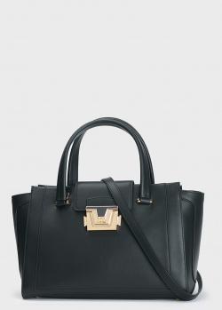 Черная сумка Cromia Erica с брендовым декором, фото