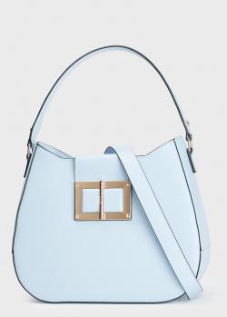 Голубая сумка Cromia Gemma с металлическим декором, фото