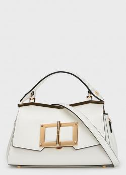 Белая сумка Cromia Gemma из мелкозернистой кожи, фото