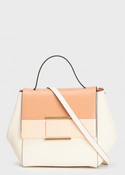 Бежевая сумка Cromia Marina с контрастными деталями, фото