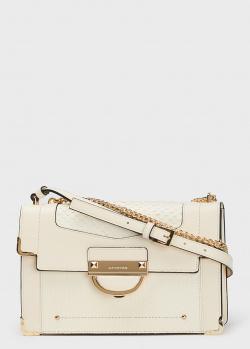 Белая сумка Cromia Selene с тиснением, фото