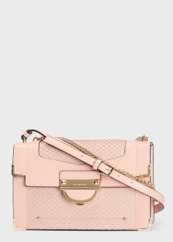 Розовая сумка Cromia Selene с тиснением под рептилию, фото