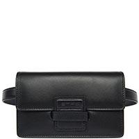 Черная поясная сумка Etro из гладкой кожи, фото