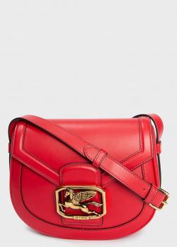 Красная сумка Etro с брендовым декором, фото