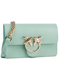 Поясная сумка Pinko Mini Love мятного цвета, фото